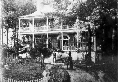 Historic photo of the front elevation of the house