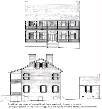 Drawing of the Buck House