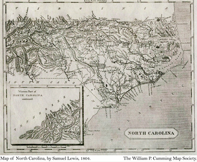 historical NC map